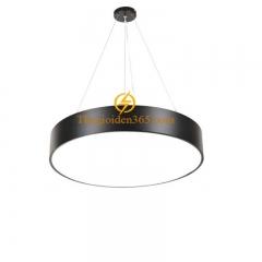 Đèn thả trần Led hình tròn đặc D600 vỏ đen TL-DE-500RD