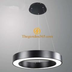 Đèn thả trần Led hình tròn rỗng D600 vỏ đen TL-DE-500R