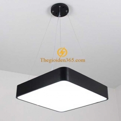 Đèn thả trần Led hình vuông đặc D600 vỏ đen TL-DE-500RD