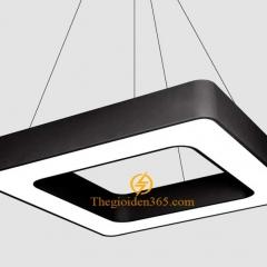 Đèn thả trần Led hình vuông rỗng D600 vỏ đen TL-DE-500R
