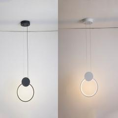 Đèn thả trang trí hiện đại LED 3 mầu vỏ đen cao cấp TL-B0256A