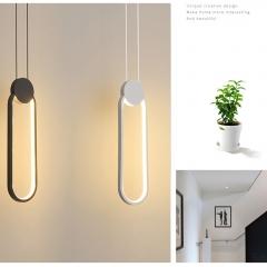 Đèn thả trang trí hiện đại LED 3 mầu vỏ đen trắng cao cấp TL-B0256B