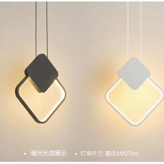 Đèn thả trang trí hiện đại LED 3 mầu vỏ đen trắng cao cấp TL-B0256C