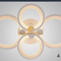 Đèn trần phòng khách hiện đại 4 cánh tròn TL-V4-04