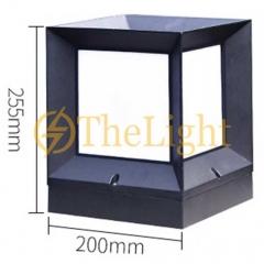 Đèn trụ cổng hiện đại trang trí sân vườn ngoài trời D200xH255mm TL-DTC01