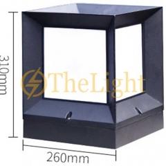 Đèn trụ cổng hiện đại trang trí sân vườn ngoài trời D260xH310mm TL-DTC01