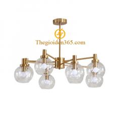 Đèn chùm hiện đại chao thủy tinh 8 bóng E14 TL-DC302