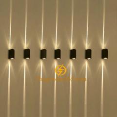 Đèn hắt tường Led 2 đầu vỏ đen IP65 chữ nhật 6w DHT-2702