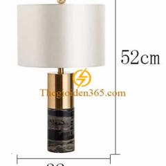 Đèn ngủ để bàn mạ đồng Stone Gold cao cấp H520 TL-DN04