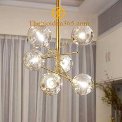 Đèn thả hiện đại chao thủy tinh 6 bóng G4 TL-HĐ01