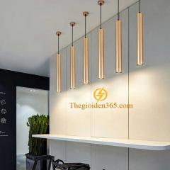 Đèn thả ống bơ vàng Gold D60xH200 7w TL-OBG-01