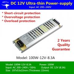 Nguồn LED dây 12v 100w 8.3A cao cấp TLD-12V-PW01