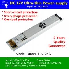 Nguồn LED dây 12v 300w 25A cao cấp TLD-12V-PW01