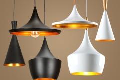 Bộ đèn thả trang trí chao nhôm sơn tĩnh điện TH075