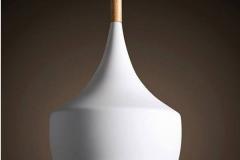 Đèn thả trang trí chao nhôm sơn tĩnh điện đui gỗ TH075-C