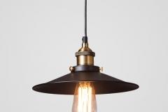 Đèn thả trang trí chao sắt đen Retro đui đồng D300 TL-CF068