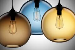 Đèn thả thủy tinh nghệ thuật Chao tròn đa màu D200 TL-TT053