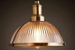 Đèn thả chao thủy tinh pha đồng vàng độc đáo D250 TL-CF099