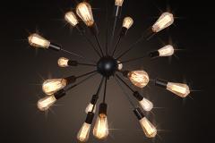 Đèn chùm thả hiện đại Loft vỏ đen 20 bóng đui E27 TL-CF136