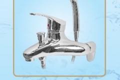 Sen tắm nóng lạnh dây bát mạ chân đồng tay vuông cao cấp S658 Olympic