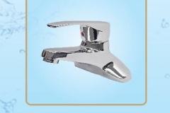 Vòi chậu lavaba nóng lạnh chân đồng tay vuông cao cấp S458 Olympic