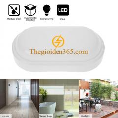 Đèn ốp trần chống ẩm oval hình bầu dục vỏ trắng White 15w TL-OCA-01
