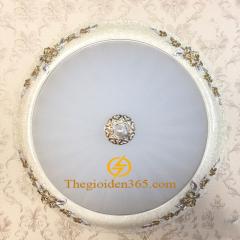 Đèn ốp trần tròn cổ điển Led 3 màu D350 trang trí nội thất cao cấp TL-OYN-8157