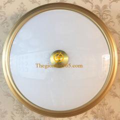 Đèn mâm ốp trần tròn cổ điển Led 3 màu D400 trang trí phòng khách TL-OYN-203