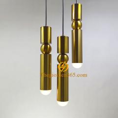 Đèn thả ống bơ Led trang trí 6w hình trụ tròn vàng Gold dài H360 TL-PA-OBGOLD