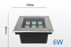 Đèn LED Âm Đất vuông GS Công Suất 6W GSDV06