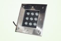 Đèn LED Âm Đất vuông GS Công Suất 9W GSDV09