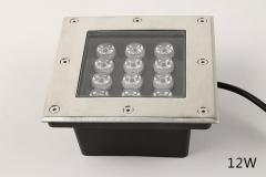 Đèn LED Âm Đất vuông GS Công Suất 12W GSDV12