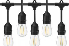 Đèn dây đui thả trang trí ngoài trời không thấm nước đui E27 loại 10 bóng