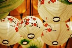 Đèn lồng bọc lụa kiểu Nhật Bản TLC01