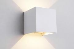 Đèn led hắt tường trang trí hiện đại 2 đầu 6w vỏ trắng DHT-01V-6W-T