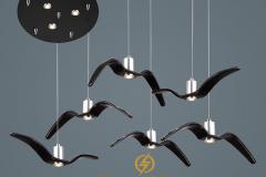 Đèn thả trang trí Vintage cánh chim Mòng biển TL246