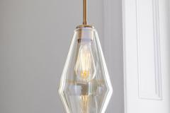 Đèn thả trang trí kiểu Châu Âu chao thủy tinh pha đồng TLPD03