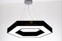 Đèn thả trần Led trang trí hiện đại hình lục giác D400 TL-DE-500