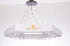 Đèn thả trần Led trang trí hiện đại hình lục giác vỏ trắng D1000 TL-TR-500