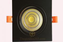 Đèn led âm trần cao cấp vuông đơn vỏ đen 7w chip COB TLV-ACOB-7W02