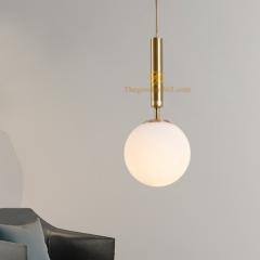Đèn thả phòng khách hiện đại trang trí kiểu Châu Âu chao thủy tinh mờ D200 TL-PK210-G2