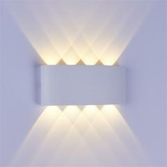 Đèn Led hắt tường hiện đại trang trí hai đầu vỏ trắng 8w 8 mắt TL-DHT08W