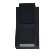 Đèn Led ốp tường hiện đại vát cạnh hai đầu vỏ đen 2x5w TL-DOT10W-B2