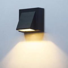 Đèn Led ốp tường hiện đại vát cạnh 1 đầu vỏ đen TL-DOT5W-B1