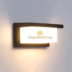 Đèn tường Led ngoài trời hiện đại vỏ đen chụp kính mờ 12w TL-DGT-601