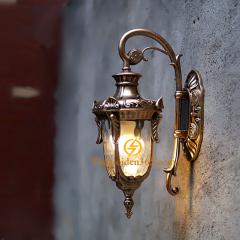 Đèn tường ngoài trời hợp kim mạ đồng chiếu sáng nội ngoại thất TL-DTHK01-Đ