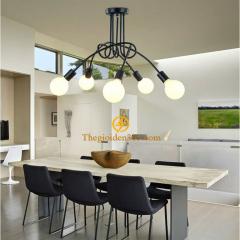 Đèn thả bàn ăn 5 đui trang trí phong cách Luminaria Retro hiện đại TL138-B05