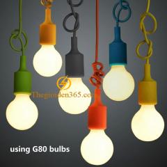 Dây đèn thả trang trí đui E27 nhiều màu chiếu sáng nội thất TL-E27COLOR