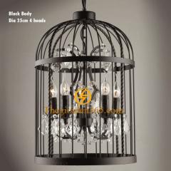 Đèn thả nghệ thuật Decor lồng chim trang trí 4 bóng E14 độc đáo TL-CF160-DE04