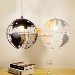 Đèn thả quả địa cầu sắt trang trí nghệ thuật D280 TL-CF095